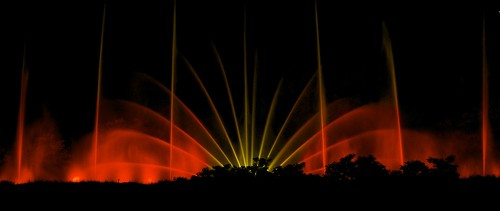 rogersmj posted a photo:	Music- and light-synchronized fountain show in Grand Haven, MI.
