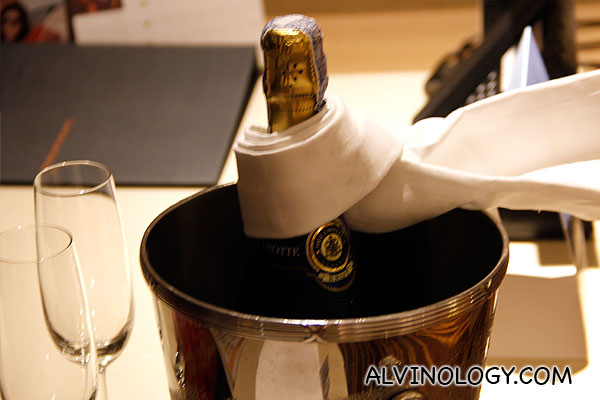 Chilled champagne!