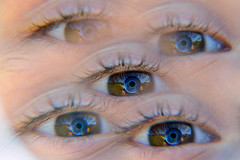 contact lens, eyelash, close-up, blue, eye, organ,
