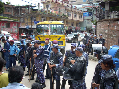 Ever vigilant Nepali police force