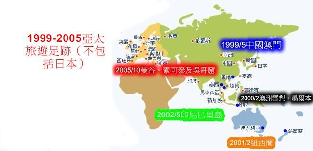 1999-2005亞太足跡