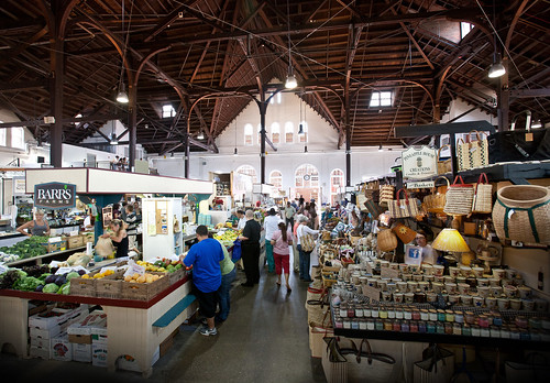 The Romanesque Revival market house, pictured above, was built in 1889. Today, Central Market is home to many families that have been coming to the market for generations. Photo courtesy Lancaster Central Market.