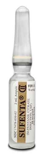 Sufenta sufentanil iv 50mcg 2ml ampoule Akorn
