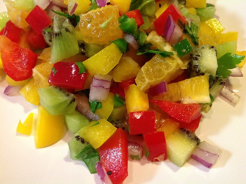 Spicy Sweet Kiwi Salsa