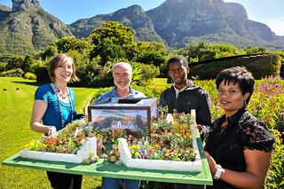 Model of South Africa's 2012 Exhibit at the Chelsea Flower Show in London