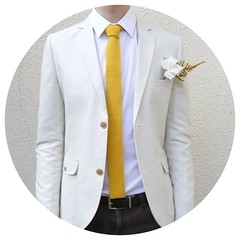 Yellow Knit Tie