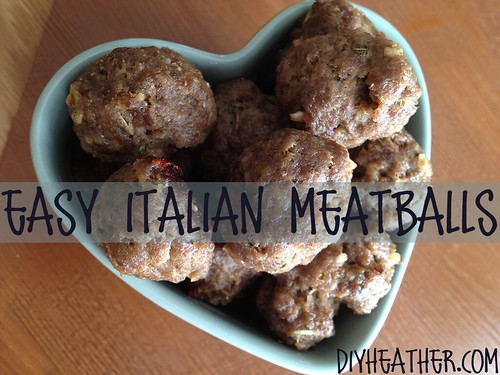 easy Italian meat balls by Heather Says