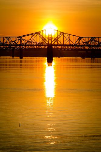 louisville ohioriver secondstreetbridge georgerogersclarkmemorialbridge