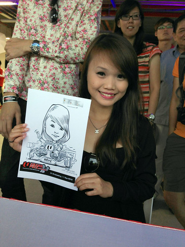 caricature live sketching for NTUC U Grand Prix Experience 2013 - 22