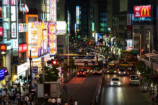 Street of Shinjuku At Night