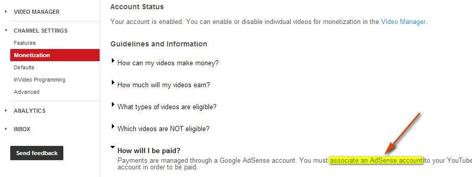 How to monetize your YouTube videos and how to get instant adsense approval using YouTube