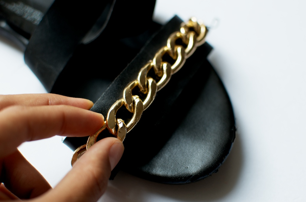 diy chain trimmed flats pic (2)