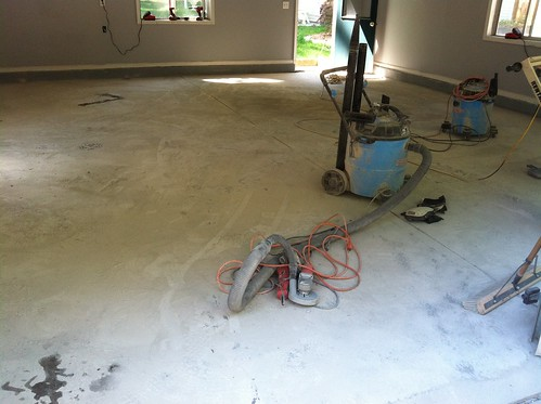 garage floor progress