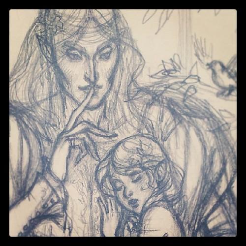 Трандуил и маленький Леголас...