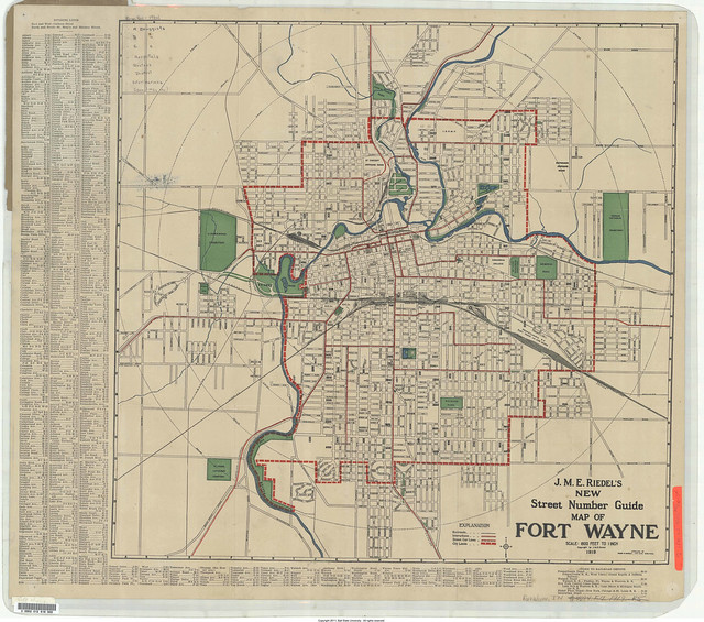 Map of Fort Wayne, 1919 | Flickr - Photo Sharing!