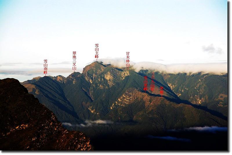 雪山(南湖東峰西望) 1