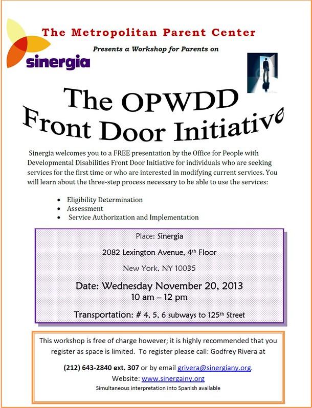 OPWDD: Front Door Initiative