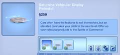 Saturnine Vehicular Display Pedestal