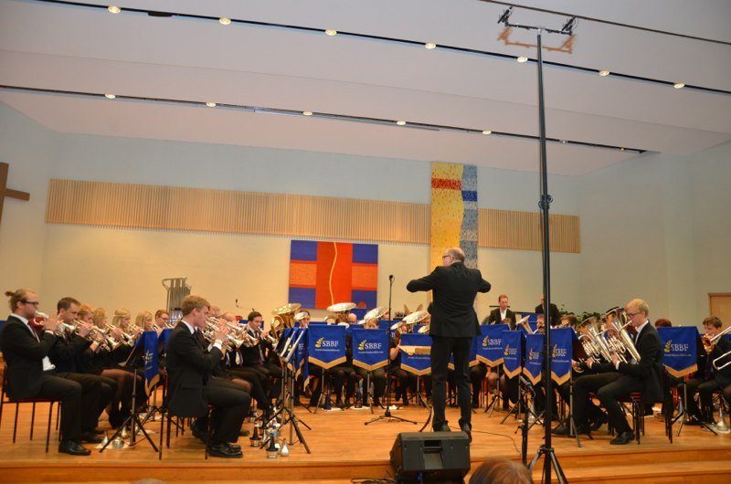 Brassbandfestivalen 2012 - Åsenhöga Missionskyrkas Brass Band med dirigent Olof Forsberg