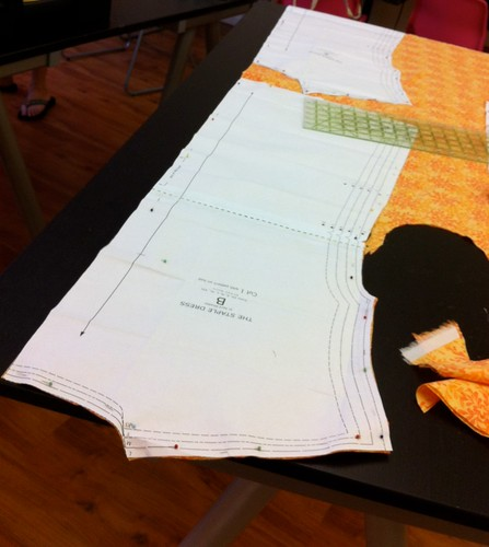 Cutting out the Pattern