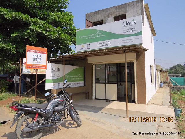 "Project approved by ICICI - board at the site office of Amit Rujuta Ventures' ""Gloria"" 1 BHK 1.5 BHK 2 BHK Flats at Nande near Hinjewadi on Pirangut Nande  Road Taluka Mulshi District Pune 412115"