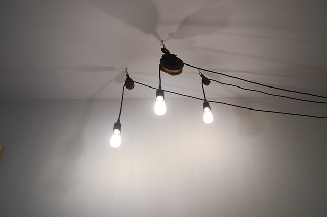 DIY Barn Pulley Pendant Lights