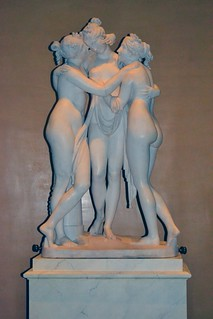 Antonio Canova (1757-1822) - The Three Graces, Woburn Abbey version (1814-1817) front, Victoria and Albert Museum, August 2013