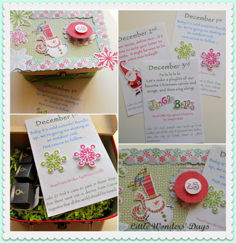 Christmas Activity Cards (Photo from Little Wonders' Days)