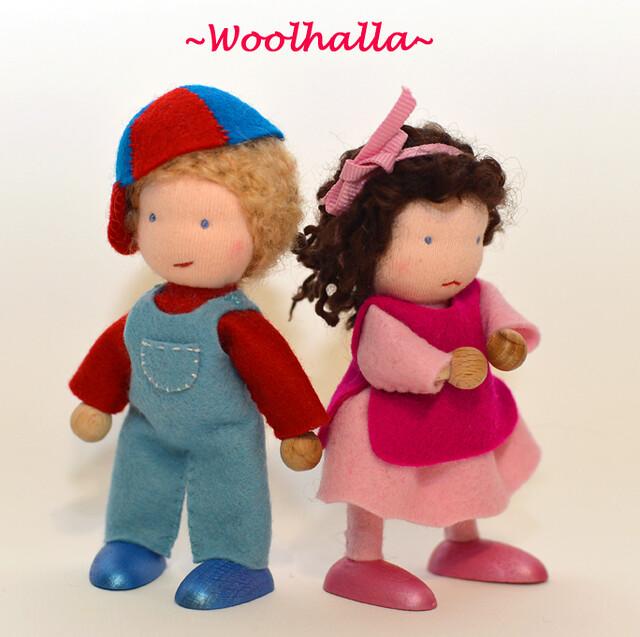 Sam and Sadie Dollhouse Dolls