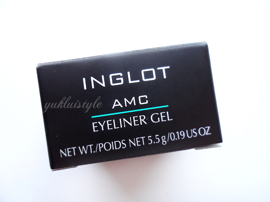 Inglot Matte Collection AMC Eyeliner Gel review and swatch