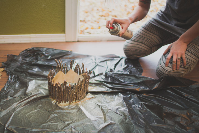 Gold Crown Christmas Tree Topper Diy Indiejane Photography