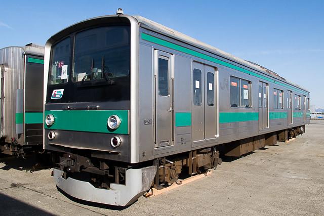 埼京線205系カワ12編成 新潟東港木材埠頭