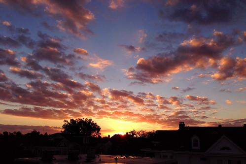 new pink sunset sky sun nature clouds garden gold golden evening twilight orleans louisiana darkness purple dusk 5 district sunsets crescent uptown iphone