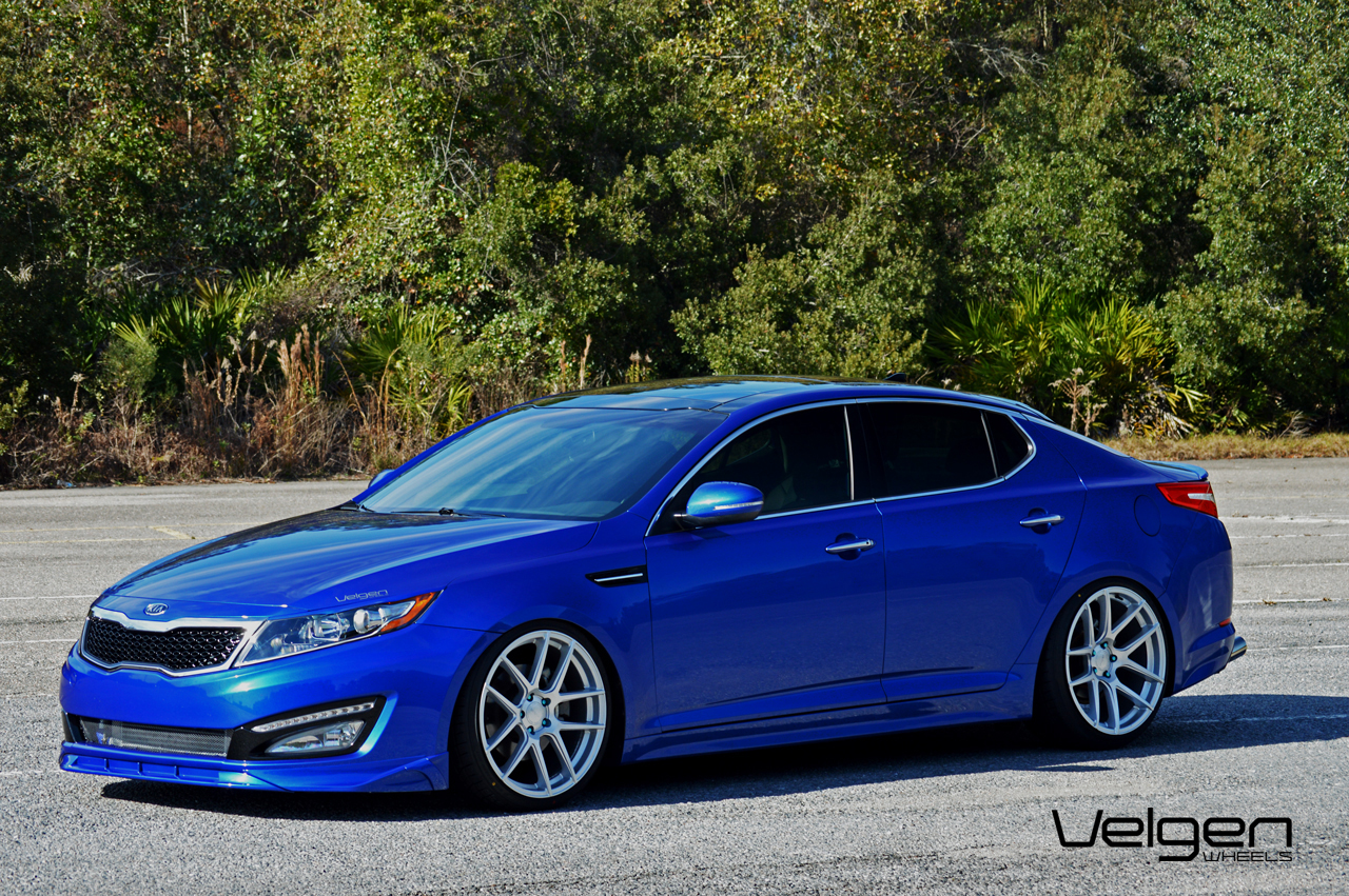Kia Optima Bagged On Velgen Wheels Clublexus Lexus