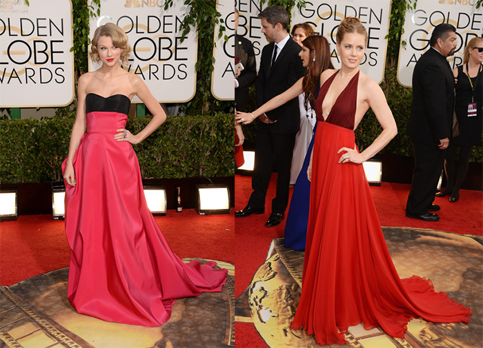 GoldenGlobes14-Taylor Swift Amy Adams