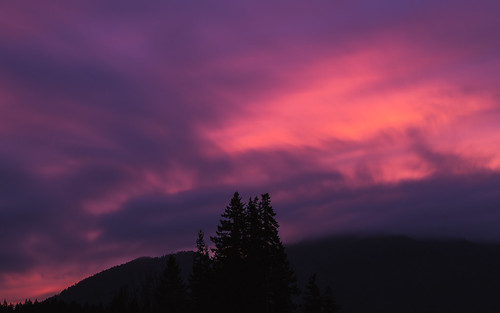 longexposure pink trees sunset sky motion mountains nature night clouds canon landscape washington purple cloudy scenic porch pacificnorthwest issaquah bwnd1000x canoneos5dmarkiii sigma70200mmf28exdghsmii johnwestrock