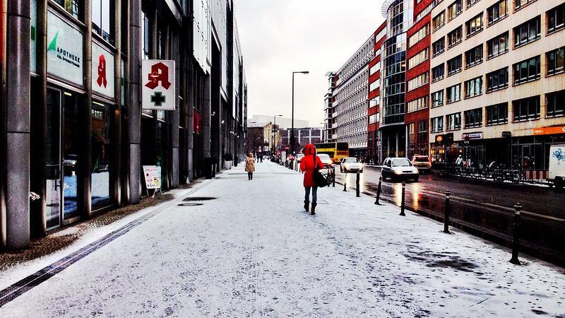 it started snowing in berlin