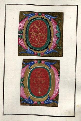 005-Álbum de las iníciales medievales - fol 27r- Biblioteca Nacional de Polonia
