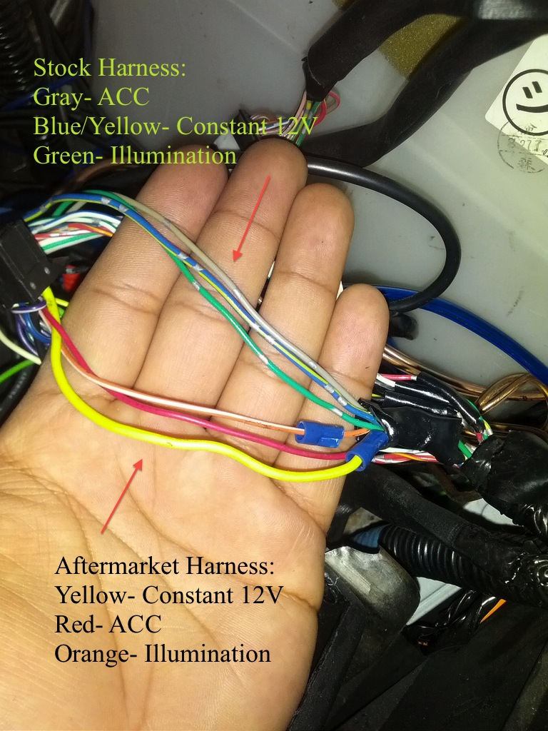 Diy Retain Oem Nav Aftermarket Hu Pics Lexus Is Forum Ct200h Wiring Diagram Use Your Electric Tape And Wrap The Bare Copper Wire Past It Make Sure You Tight So Doesnt Come Off After Youve Taped All 3 Wires