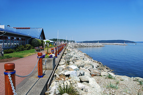 Waterfront Walkway in Sidney, Greater Victoria, Vancouver Island, British Columbia, Canada