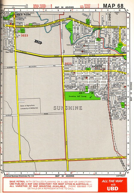 Map of Ardeer from the 1983 UBD Melbourne directory: Edition 26, Map 68
