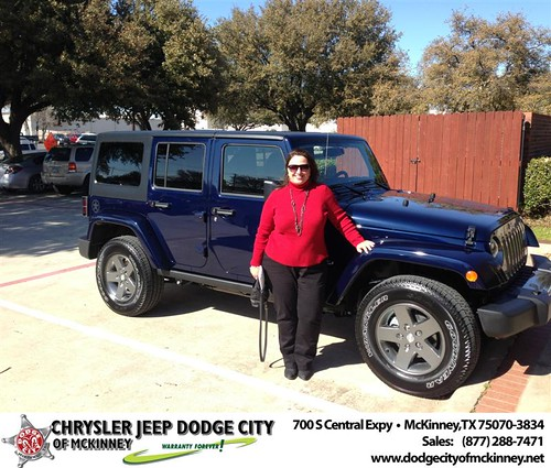 Happy Anniversary to Karen L Baumgardner on your 2013 #Jeep #Wrangler from Arnold Scott and everyone at Dodge City of McKinney! #Anniversary by Dodge City McKinney Texas