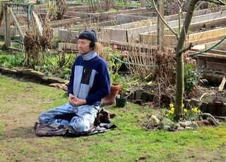 Meditation in the community garden