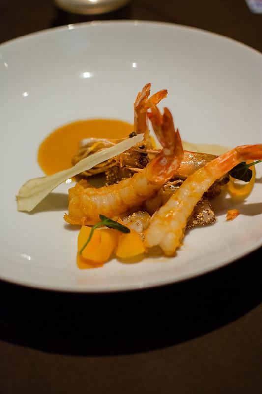 Shrimp starter at Sidney Street Cafe