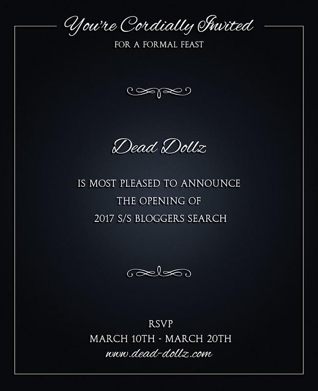 Dead Dollz March 2017 Bloggers Search