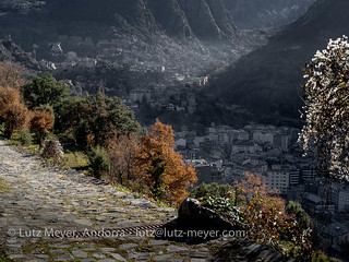 Andorra autumn nature: Engordany, E-E, Andorra