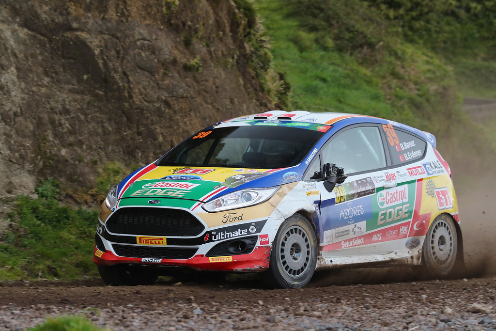 39 BANAZ Bugra ERDENER Burak Ford Fiesta R2 Action during the 2017 European Rally Championship ERC Azores rally,  from March 30  to April 1, at Ponta Delgada Portugal - Photo Gregory Lenormand / DPPI