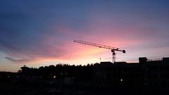 Rising-sun-colored sky