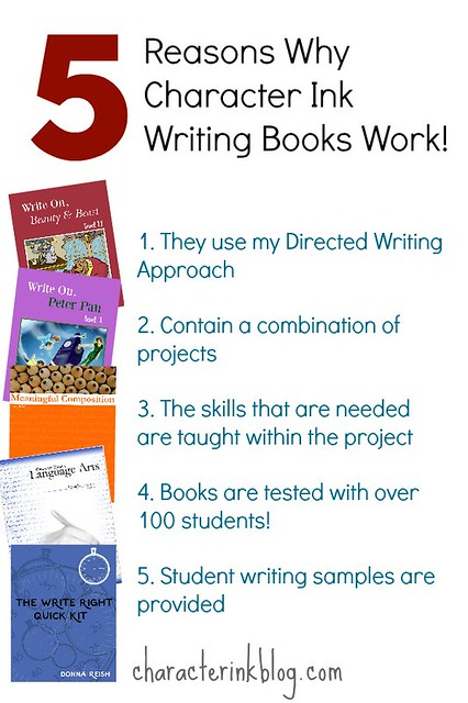 5 Reasons Why Character Ink Writing Books Work!