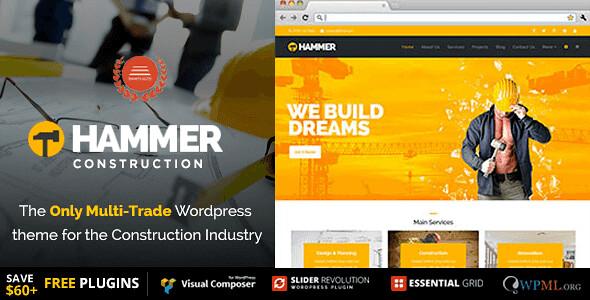 Hammer WordPress Theme free download
